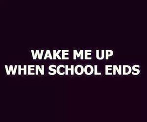 school, quote, and end image