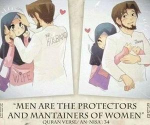 husband, islam, and wife image