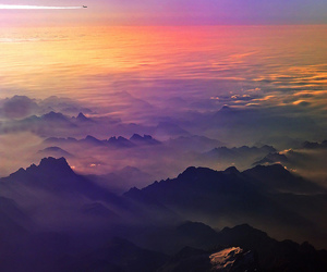 sky, mountains, and clouds image