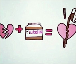 one, nutela, and love image