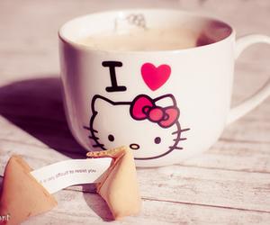 hello kitty, coffee, and kawaii image