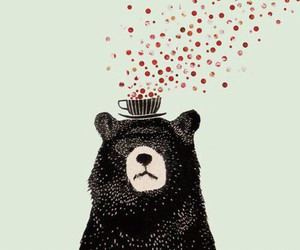 bear, art, and wallpaper image