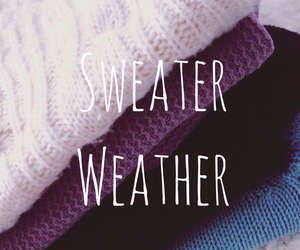 sweater, autumn, and cold image