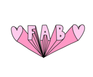 fab, pink, and overlay image
