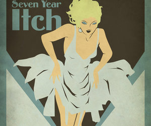 art deco, poster, and seven year itch image