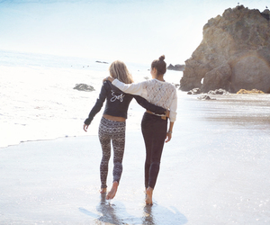 beach, hollister, and best friends image