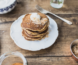 breakfast, pancakes, and carrot image