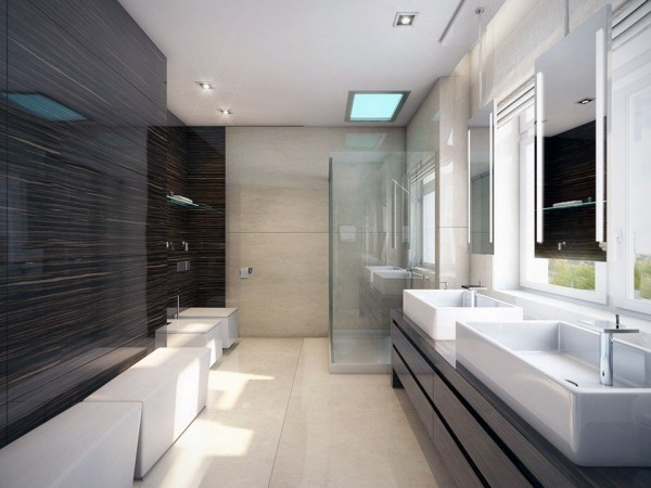 Extraordinary Bathroom Ideas And Designs For Cool Bathroom Designs Bathroom Styles And Designs Bathroom Design Website Small Bathroom Ideas And Designs Contemporary Bathroom Design Ideas With Glass Shower Enclosure And Black Vanities