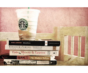 books, cafe, and cute image