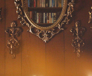 mirror, book, and vintage image