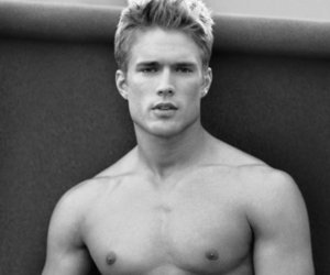 black and white, guy, and Hot image