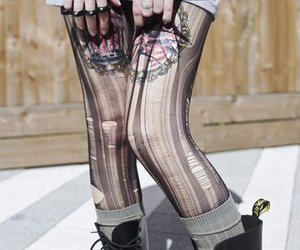 doc martens, girl, and tattoo image