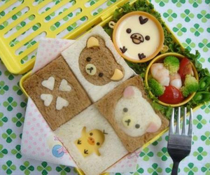 kawaii, bento, and food image