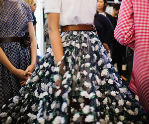 style, backstage, and skirt image