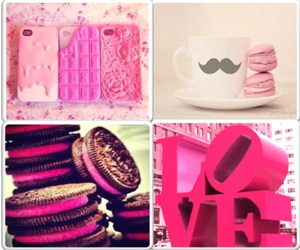 oreos, pink, and iphone covers image