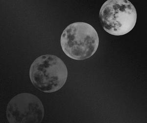 black, moon, and tumblr image