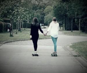fashion, longboard, and skate image