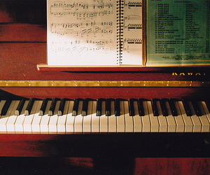 piano, photography, and vintage image