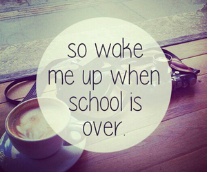 school, coffee, and monday image