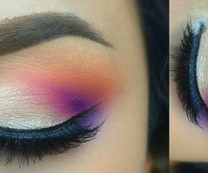 beauty, color, and eyeliner image