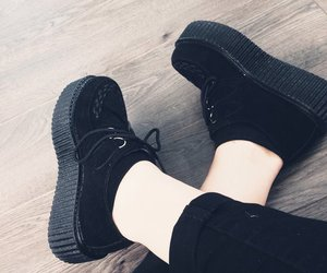 creepers, dark, and girl image