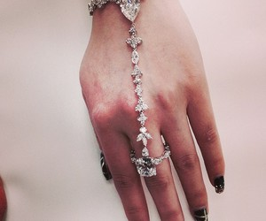 diamond, jewelry, and nails image