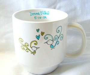 birds, cup, and painting image