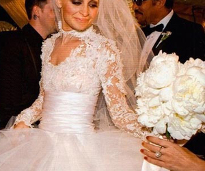 bride, dress, and lace image