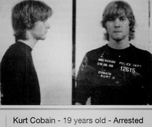 grunge, rock, and kurt cobain image