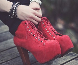 shoes, fashion, and red image