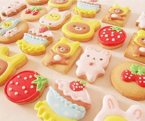 food, kawaii, and Cookies image
