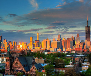 chicago, city, and skyline image