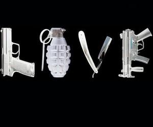 love, gun, and black image