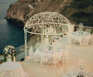 wedding, white, and sea image
