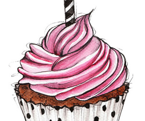 cupcake, pink, and candle image