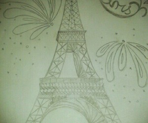 drawing, eiffel tower, and idea image