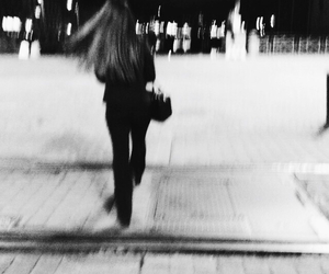 beautiful, black and white, and blurry image