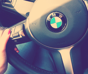 blue, bmw, and car image