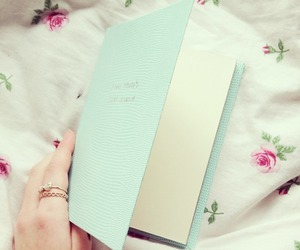 blue, book, and cute image