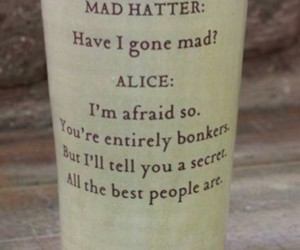 alice, crazy, and mad image