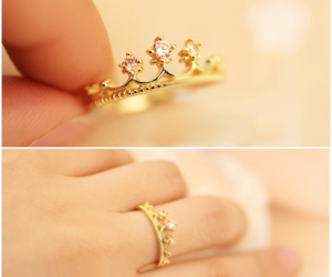 crown, rings, and fashion image