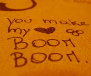 boom boom, heart, and Paper image