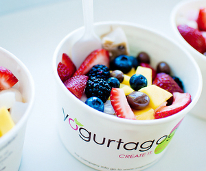 fruit, food, and yogurt image