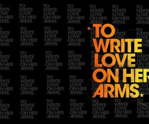 to write love on her arms and love image