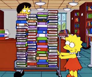 book, lisa, and lisa simpson image