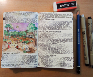 creative, diary, and drawing image