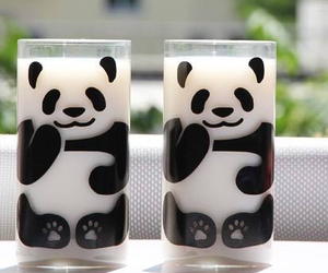 panda, milk, and cute image