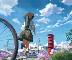 anime, girl, and cross road image