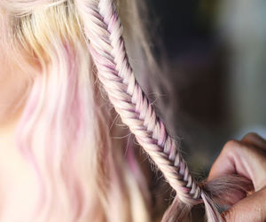blonde, trenza, and cute image