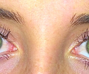 blue, green eyes, and eyebrows image